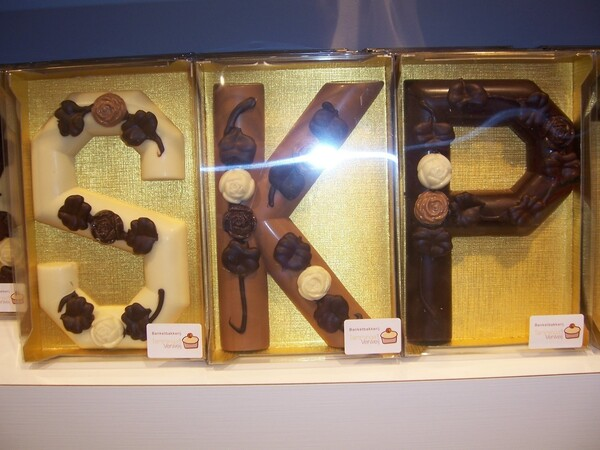 Chocolade Letter Roos